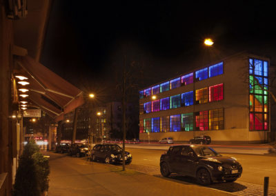 Lichtplan Robin Uber Bauhaus goes Mondrian Mainova Umspannwerk Lübecker Straße