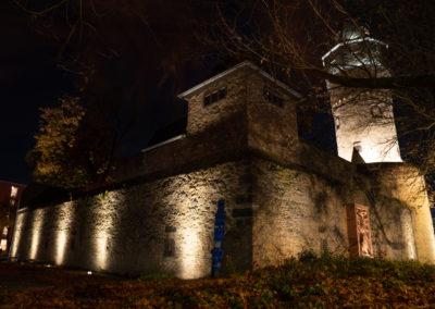 Christian Uitz Illumination Friedberger Warte Wehrmauer